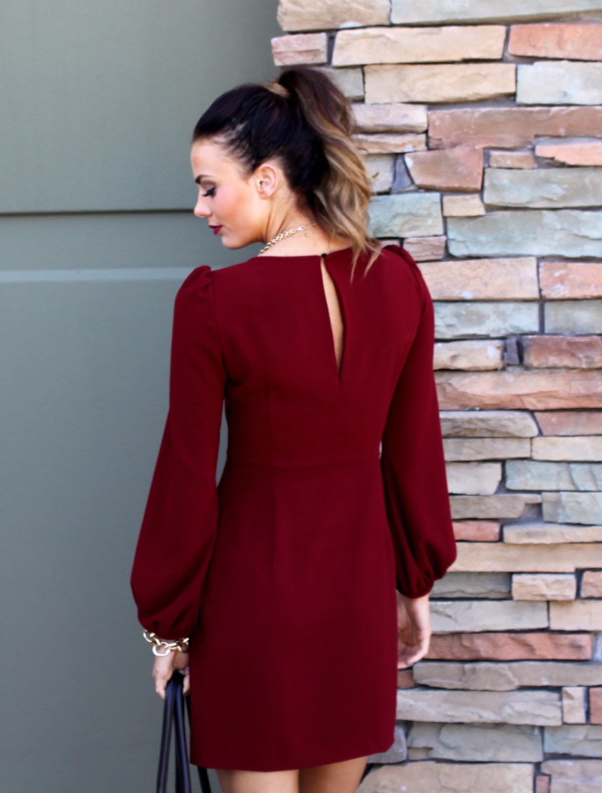 a31fb57f little burgundy dress | LovebyLynn
