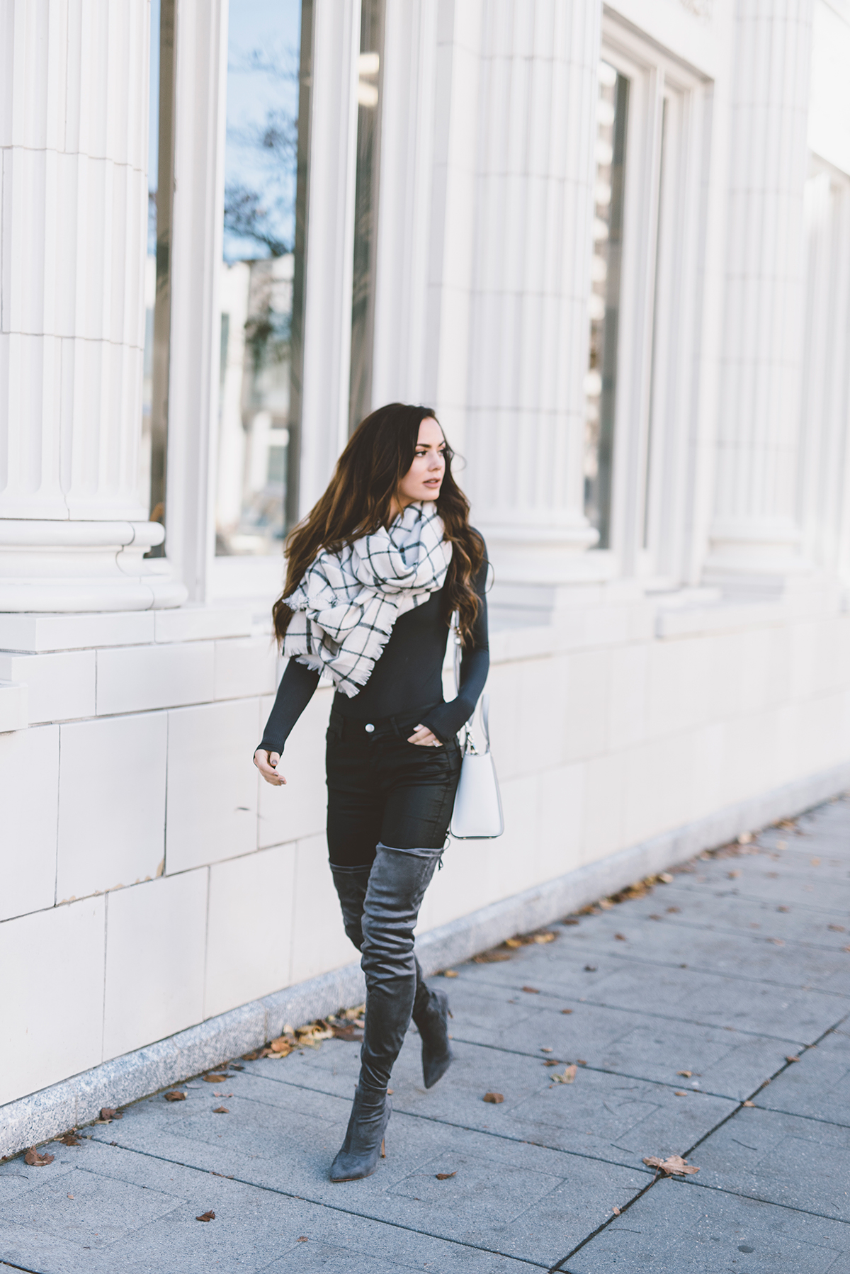 THIGH HIGH GRAY BOOTS UNDER $50 | LovebyLynn
