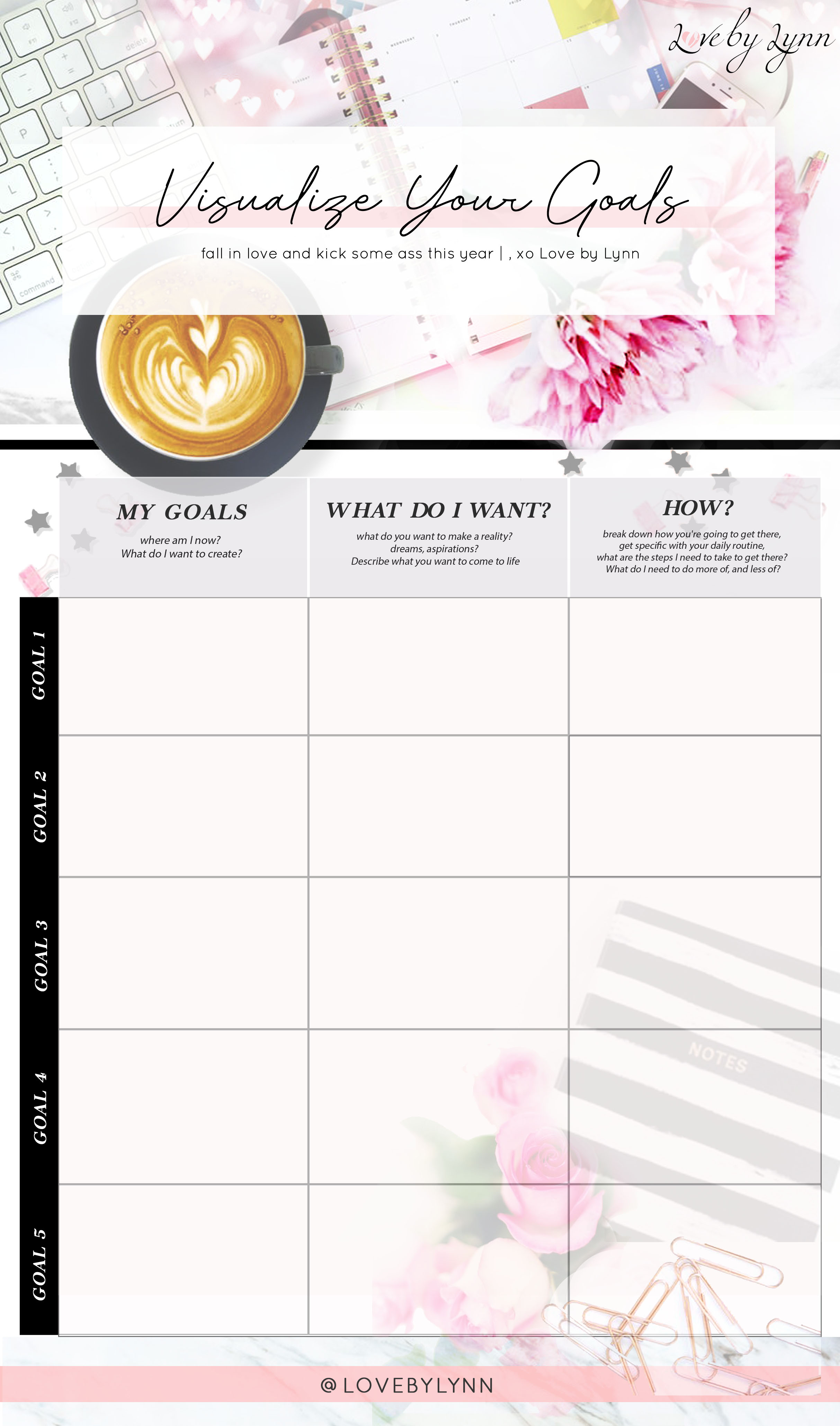 Goal setting printable sheet