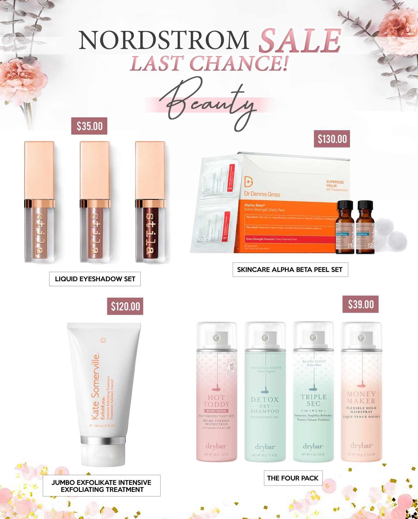 Gift Guides - BEAUTY- NORDSTROM SALE LAST CHANCE! - Copy - Copy