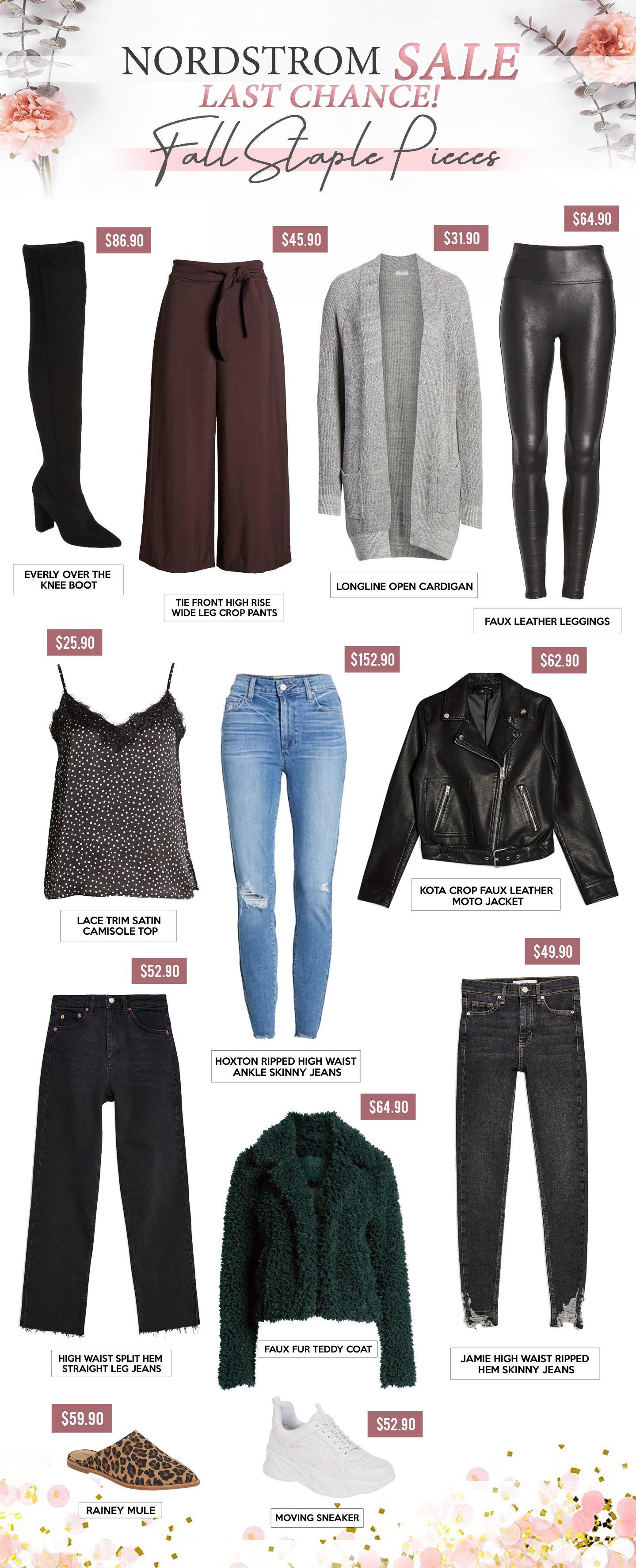 Gift Guides - FALL STAPLE PIECES - NORDSTROM SALE LAST CHANCE!